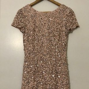 Size 6 Adrianna Papell beaded sequin dress